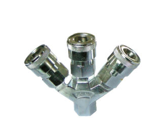 3PCS Manifold With Japan Type Quick Coupler