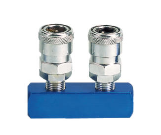 2PCS Manifold With Japan Type Quick Coupler