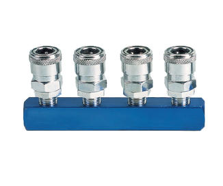 4PCS Manifold With Japan Type Quick Coupler